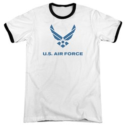 Air Force - Mens Distressed Logo Ringer T-Shirt