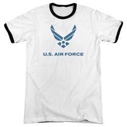 Air Force - Mens Distressed Logo Ringer T-Shirt