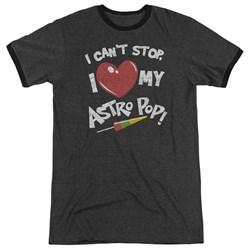 Astro Pop - Mens I Heart Ringer T-Shirt