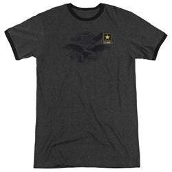 Army - Mens Left Chest Ringer T-Shirt