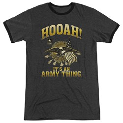 Army - Mens Hooah Ringer T-Shirt