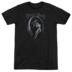 Anne Stokes - Mens Dance With Death Ringer T-Shirt