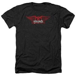 Aerosmith - Mens Winged Logo Heather T-Shirt
