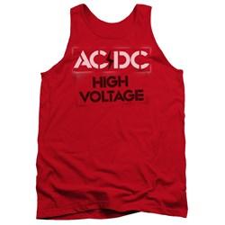 AC/DC - Mens High Voltage Stencil Tank Top