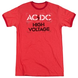 AC/DC - Mens High Voltage Stencil Ringer T-Shirt