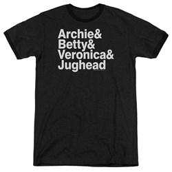 Archie Comics - Mens Ampersand List Ringer T-Shirt
