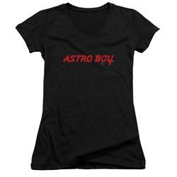 Astro Boy - Juniors Classic Logo V-Neck T-Shirt