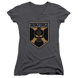 Suicide Squad - Juniors Taskforce Shield V-Neck T-Shirt