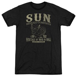 Sun Records - Mens Rockabilly Bird Ringer T-Shirt