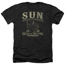 Sun Records - Mens Rockabilly Bird Heather T-Shirt
