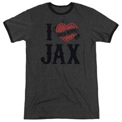 Sons Of Anarchy - Mens I Heart Jax Ringer T-Shirt