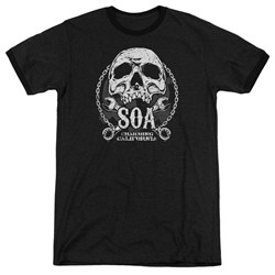 Sons Of Anarchy - Mens Soa Club Ringer T-Shirt