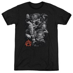 Sons Of Anarchy - Mens Group Fight Ringer T-Shirt