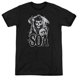 Sons Of Anarchy - Mens Smoky Reaper Ringer T-Shirt
