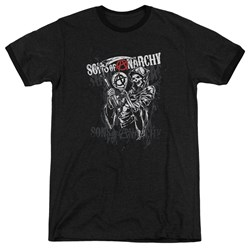Sons Of Anarchy - Mens Reaper Logo Ringer T-Shirt
