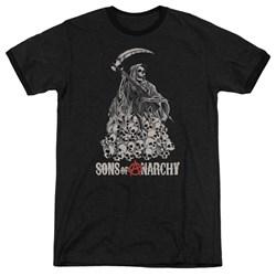 Sons Of Anarchy - Mens Pile Of Skulls Ringer T-Shirt