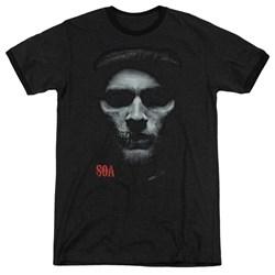 Sons Of Anarchy - Mens Skull Face Ringer T-Shirt