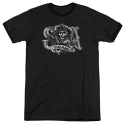 Sons Of Anarchy - Mens Charming Ca Ringer T-Shirt