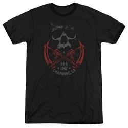 Sons Of Anarchy - Mens Cross Guns Ringer T-Shirt
