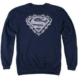 Superman - Mens Tribal Steel Shield Sweater