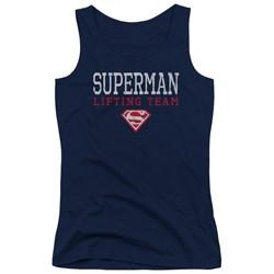 Superman - Juniors Lifting Team Tank Top