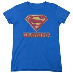 Superman - Womens Super Grandma T-Shirt