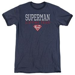 Superman - Mens Lifting Team Ringer T-Shirt