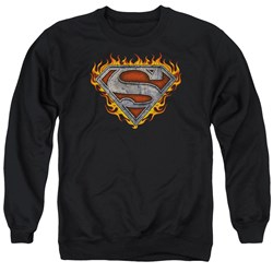 Superman - Mens Iron Fire Shield Sweater