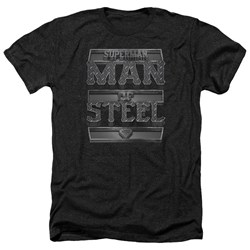 Superman - Mens Steel Text Heather T-Shirt