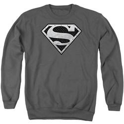 Superman - Mens Super Metallic Shield Sweater