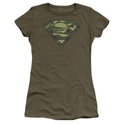 Superman - Juniors Camo Logo T-Shirt