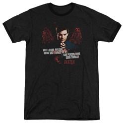 Dexter - Mens Good Bad Ringer T-Shirt