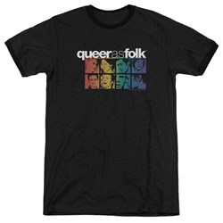 Queer As Folk - Mens Cast Ringer T-Shirt