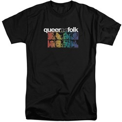 Queer As Folk - Mens Cast Tall T-Shirt
