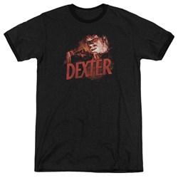 Dexter - Mens Drawing Ringer T-Shirt