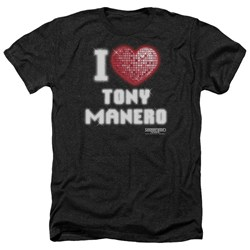 Saturday Night Fever - Mens I Heart Tony Heather T-Shirt