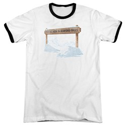 Its A Wonderful Life - Mens Bedford Falls Ringer T-Shirt