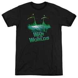 War Worlds - Mens Global Attack Ringer T-Shirt