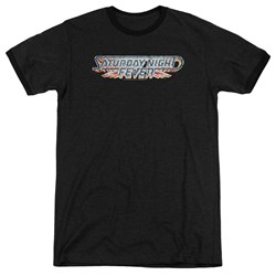 Saturday Night Fever - Mens Logo Ringer T-Shirt
