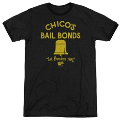 Bad News Bears - Mens Chico'S Bail Bonds Ringer T-Shirt