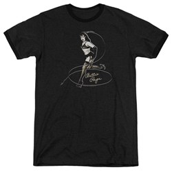Bettie Page - Mens Whip It! Ringer T-Shirt