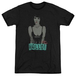 Bettie Page - Mens Hello Ringer T-Shirt