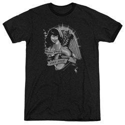 Bettie Page - Mens Remember Ringer T-Shirt
