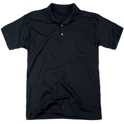 Bettie Page - Mens Crouching Leopard (Back Print) Polo