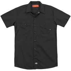 Bettie Page - Mens Crouching Leopard (Back Print) Work Shirt