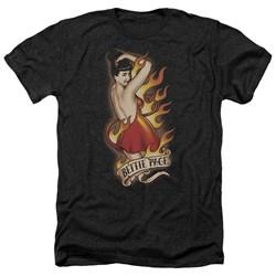 Bettie Page - Mens Devil Tattoo Heather T-Shirt