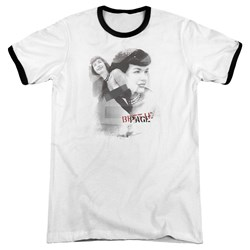 Bettie Page - Mens Transparent Bands Ringer T-Shirt