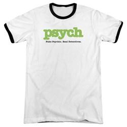 Psych - Mens Title Ringer T-Shirt
