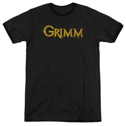 Grimm - Mens Gold Logo Ringer T-Shirt