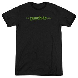 Psych - Mens The Psychic Is In Ringer T-Shirt